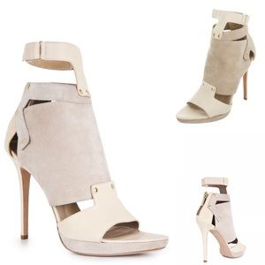 Herve Leger Halia Multipiece Leather Bootie